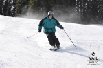 Downhill skiing and staying in control